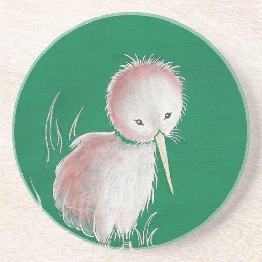 Pájaro del kiwi de Nueva Zelanda Posavasos Manualidades