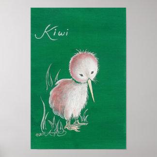 Pájaro del kiwi de Nueva Zelanda Póster