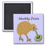Pájaro del kiwi e imán A.C. divertidos de la fruta