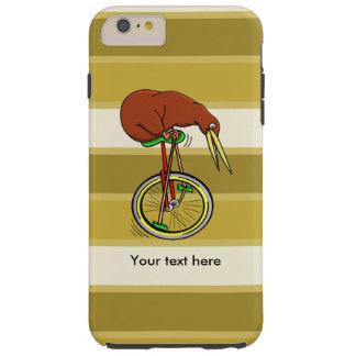 Pájaro del kiwi en un dibujo animado divertido del funda de iPhone 6 plus tough