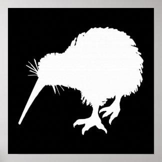 Pájaro del kiwi impresiones