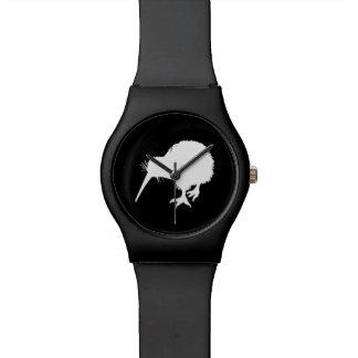 Pájaro del kiwi relojes