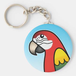 Pájaro del loro del Macaw del dibujo animado del e Llavero Personalizado