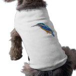 Pájaro del martín pescador ropa de perros