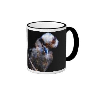 Pájaro del martín pescador taza de dos colores