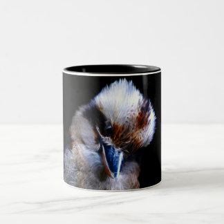 Pájaro del martín pescador taza de dos tonos