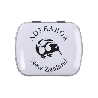 Pájaro del nacional de Nueva Zelanda /Aotearoa del Frascos De Caramelos