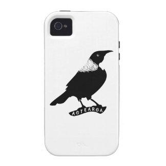 Pájaro del natural de Tui el | Aotearoa Case-Mate iPhone 4 Carcasa