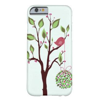 Pájaro del navidad con el caso del iPhone 6 del Funda De iPhone 6 Barely There