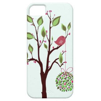 Pájaro del navidad con iPhone del muérdago 5 casos iPhone 5 Case-Mate Protectores
