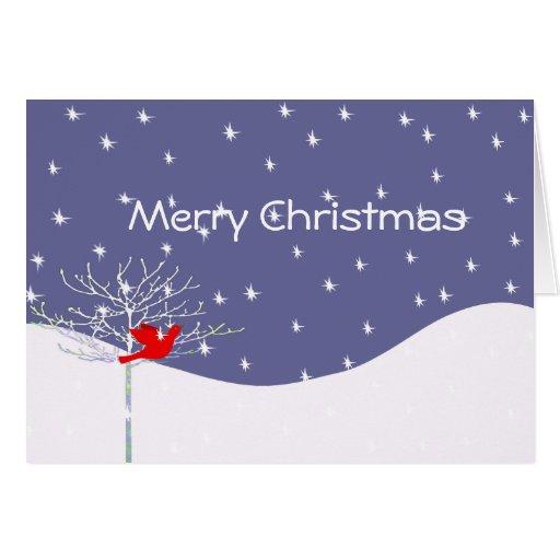 Pájaro del navidad - con su foto dentro tarjeta de felicitación
