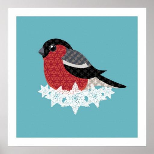 Pájaro del navidad póster