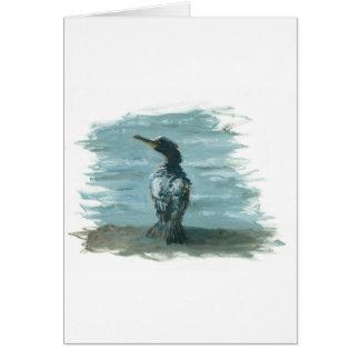pájaro del océano en artículos de la diversión tarjetón