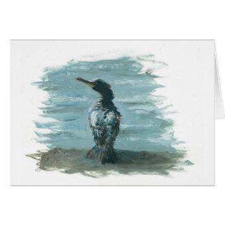 pájaro del océano en artículos de la diversión felicitacion