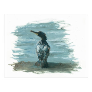 pájaro del océano en artículos de la diversión tarjetas postales