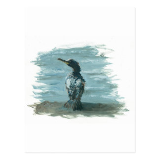 pájaro del océano en artículos de la diversión postales
