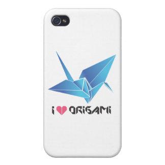 pájaro del origami iPhone 4/4S carcasas