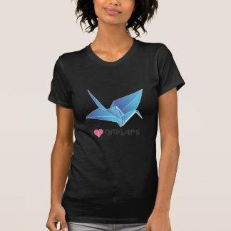 pájaro del origami playera
