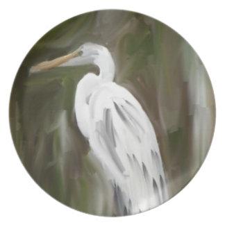 Pájaro del pantano platos para fiestas