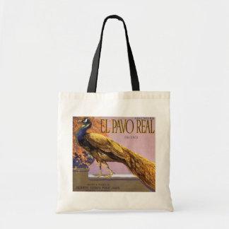 Pájaro del pavo real del Pavo del EL del arte de Bolsa Tela Barata