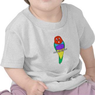 Pájaro del pinzón del arco iris. Gouldian. Camiseta