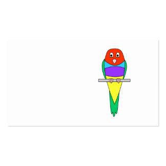 Pájaro del pinzón del arco iris. Gouldian. Tarjetas De Visita