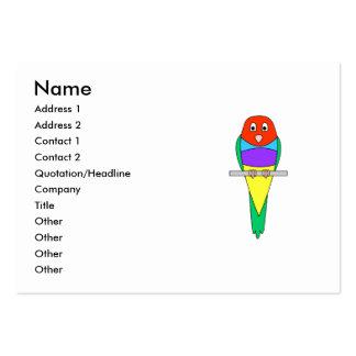 Pájaro del pinzón del arco iris. Gouldian. Tarjetas De Visita Grandes