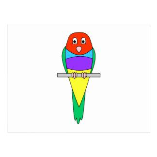 Pájaro del pinzón del arco iris. Gouldian. Tarjetas Postales