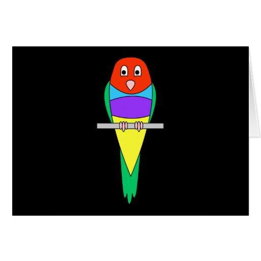 Pájaro del pinzón del arco iris. Pinzón de Gouldia Felicitación
