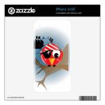 Pájaro del pirata iPhone 4 skin