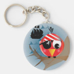 Pájaro del pirata llaveros personalizados
