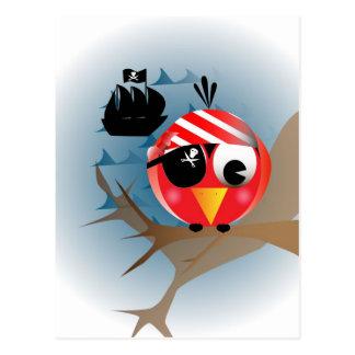 Pájaro del pirata tarjetas postales
