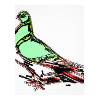 Pájaro del resplandor membretes personalizados