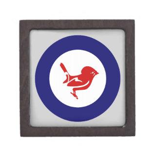 Pájaro del roundel el | Nueva Zelanda de Tomtit Caja De Recuerdo De Calidad