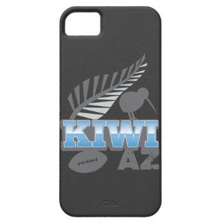 Pájaro del rugbi del KIWI AZ y helecho de plata iPhone 5 Case-Mate Coberturas
