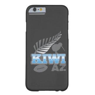 Pájaro del rugbi del KIWI AZ y helecho de plata Funda De iPhone 6 Barely There