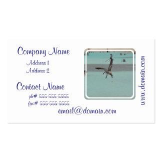 Pájaro del Sanderling del salto Plantilla De Tarjeta Personal