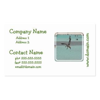 Pájaro del Sanderling del salto Plantillas De Tarjetas Personales