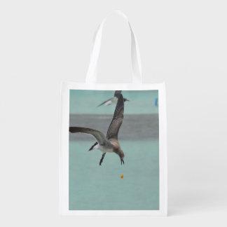 Pájaro del Sanderling del salto Bolsa Para La Compra