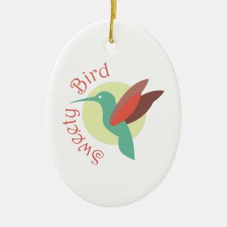 Pájaro del Sweety Adorno Ovalado De Cerámica