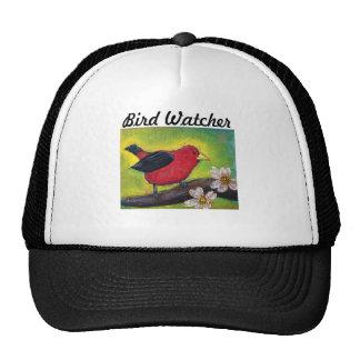 Pájaro del Tanager de escarlata Gorros