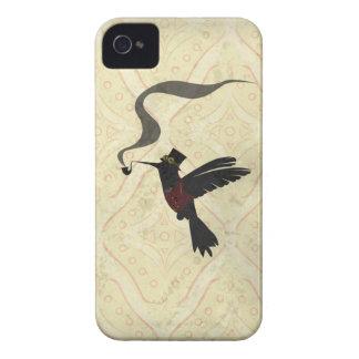 Pájaro del tarareo de Steampunk iPhone 4 Case-Mate Cobertura