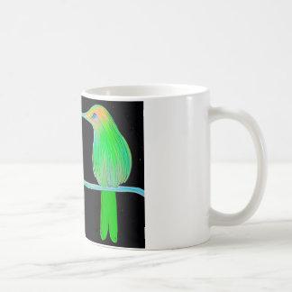 Pájaro del tarareo del espacio taza de café