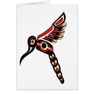 Pájaro del tarareo del Haida Tarjeta De Felicitación