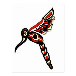 Pájaro del tarareo del Haida Tarjetas Postales
