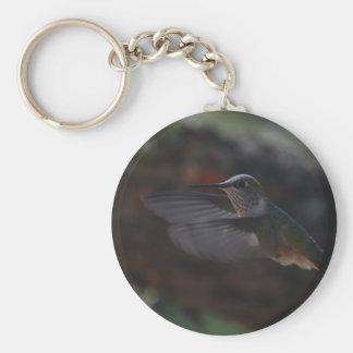 Pájaro del tarareo llavero personalizado