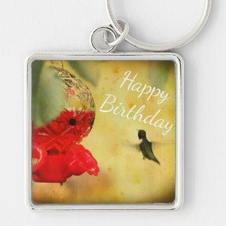 Pájaro del tarareo llaveros personalizados