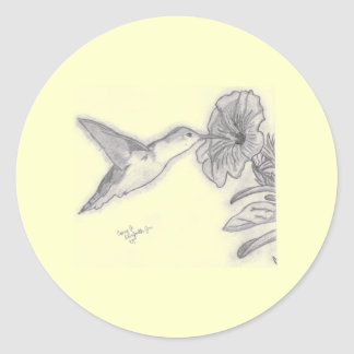 Pájaro del tarareo pegatina redonda