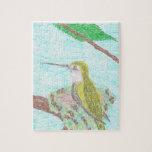 pájaro del tarareo rompecabezas con fotos