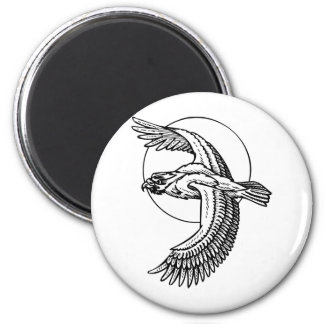 Pájaro del tatuaje imán redondo 5 cm